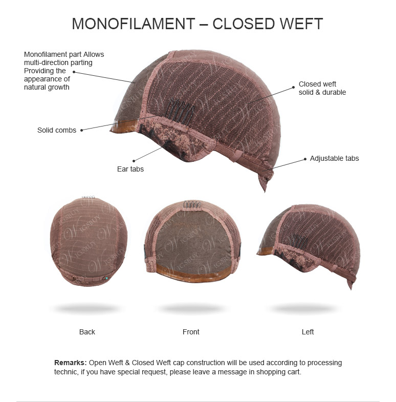 Monofilament Closed Weft
